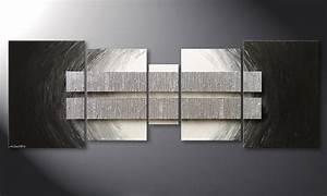 Wandbilder Grau Weiss : das wohnzimmerbild silver blocs 200x70cm wandbilder xxl ~ Sanjose-hotels-ca.com Haus und Dekorationen