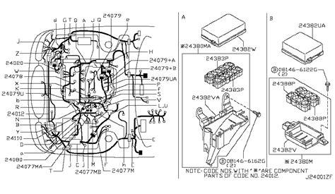 2003 Maxima Se Engine Diagram by 24011 3y105 Genuine Nissan 240113y105 Harness Assy Egi