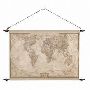 Carte Du Monde Deco Murale : d co murale carte du monde 117 x 129 cm explorateur ~ Dailycaller-alerts.com Idées de Décoration