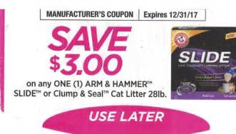 arm and hammer cat litter coupons 3 arm hammer slide or clump seal cat litter any one