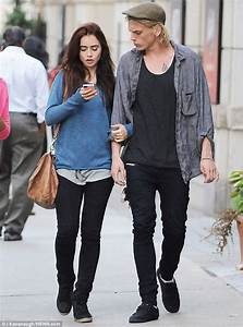 Lily Collins and Jamie Campbell Bower cool off with ice ...