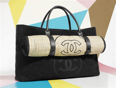 chanel limited edition st tropez beach bag spotted fashion