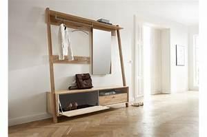 Vestiaire D Entrée : meuble d 39 entr e vestiaire bois ~ Teatrodelosmanantiales.com Idées de Décoration