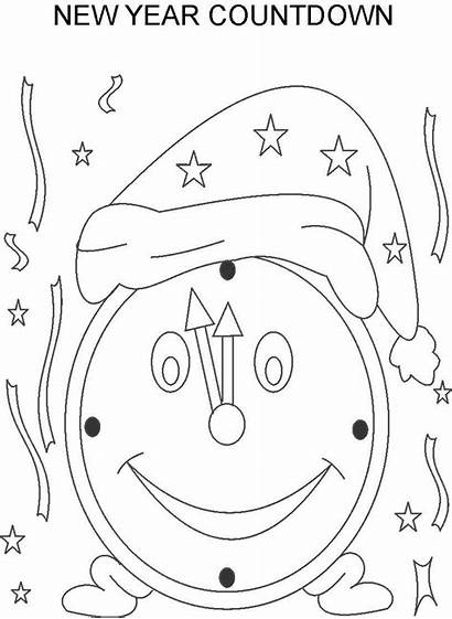 Coloring Pages Countdown Clock Happy Printable Christmas