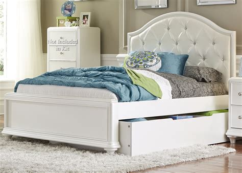 Twin Trundle Bed With Tufted Headboard By Liberty