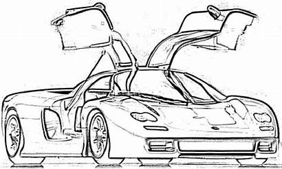 Koenigsegg Supercars Coloring Pages Super Cars Printable