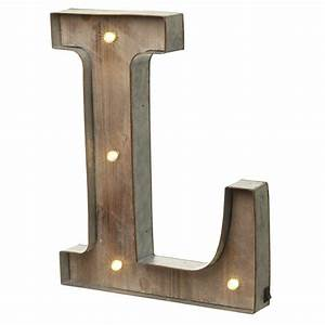 led light up wood metal carnival letter l With lighted letter a