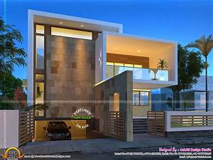 Beautiful, Contemporary, Home, Night, Views, -, Kerala, Home, Design, And, Floor, Plans