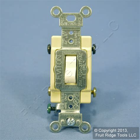 leviton light almond 4 way commercial toggle wall light
