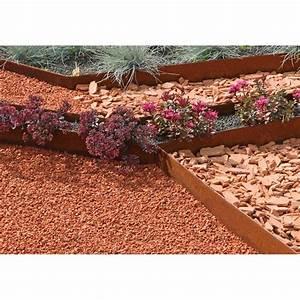 Bordure De Jardin : bordure de jardin pas cher en acier corten rouille ~ Melissatoandfro.com Idées de Décoration