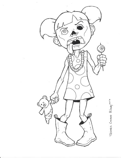 zombie coloring pages halloween cute disney fall zombies printable adult space drawings getdrawings ninjago inspiration animal books