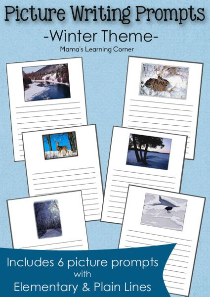 winter picture writing prompts mamas learning corner