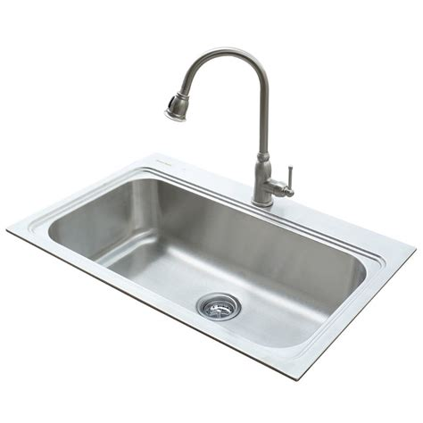 faucet placement for kitchen sink shop american standard 22 in x 33 in silver single basin