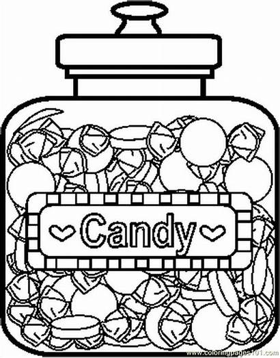 Candy Coloring Pages Printable Sweets Bar Colouring