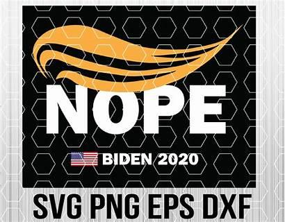 Biden Trump Anti Nope Humorous Wtm Designbtf