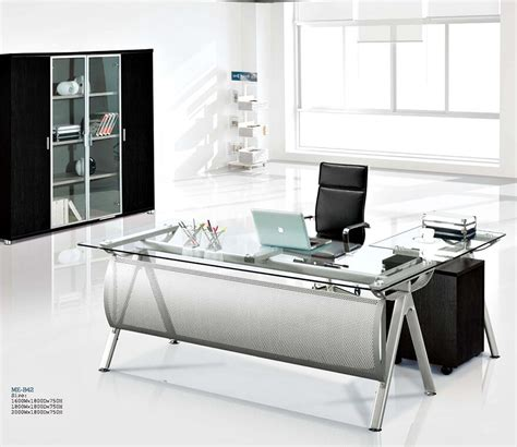 best office desk l modern executive glass computer desk l shaped metal