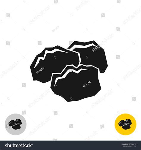 symbolism of rocks coal black rocks icon three pieces stock vector 363343256 shutterstock