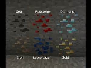 minecraft pocket edition how to find coal iron gold redstone lapis lazuli and