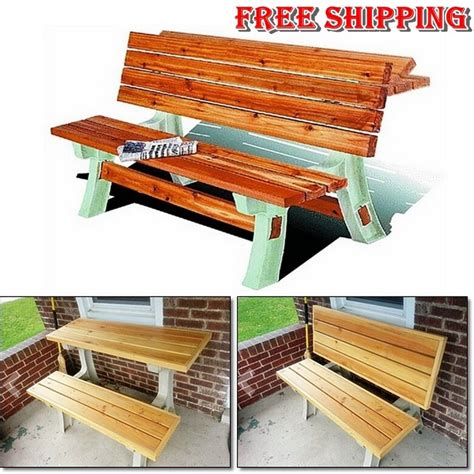 Picnic Table Bench Kit by Picnic Flip Top Table Kit Bench Seat Outdoor Folding Patio