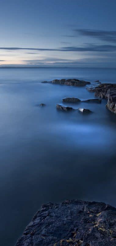 sea evening twilight great britain wallpaper