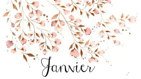tuto deco chambre calendrier à télécharger pour un mois de janvier fleuri
