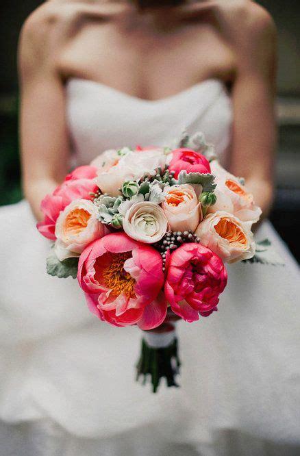 Wedding Bouquet Coral Peonies Bouquets Mariées