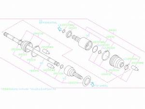 2017 Subaru Impreza Boot Drive Shaft  Doj Boot