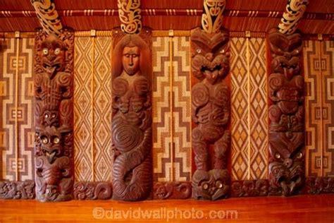 carved panels  te whare runanga maori meeting house