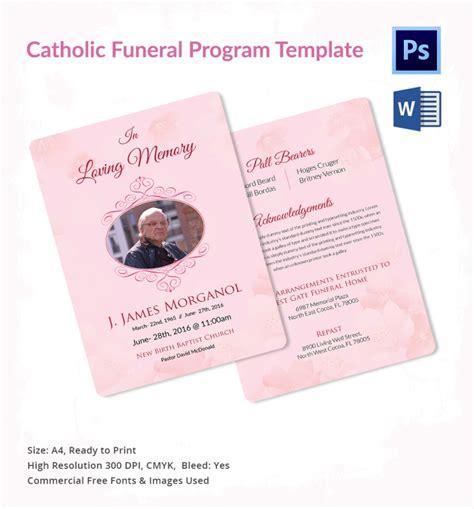 catholic funeral templates  word  psd