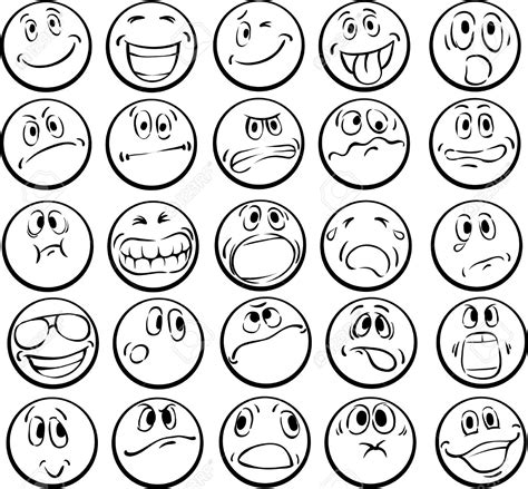emotional faces coloring pages   print