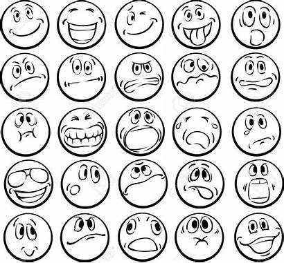 Faces Coloring Emotional Pages Emotion Drawing Colorear