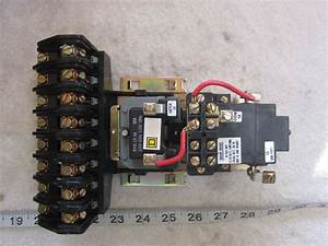 Square D 8903 Lxo80 8p 120v Coil Lighting Contactor  Used