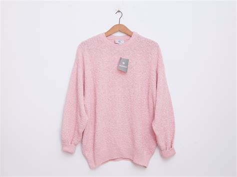 oversized pink sweater oversized sweater 90s deadstock vintage pink stock