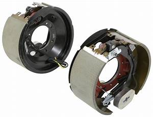 Electric Trailer Brake Kit W   Dust Shields - Self-adjusting - 12-1  4 U0026quot  - Left  Right Hand