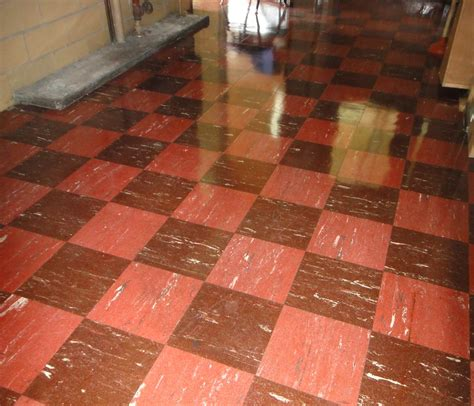 retro checker floor tile asbestos  checker