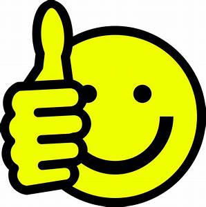 Clipart - Thumbs up smiley