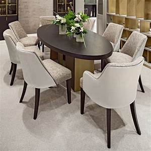 Italian, High, End, Contemporary, Oval, Dining, Set