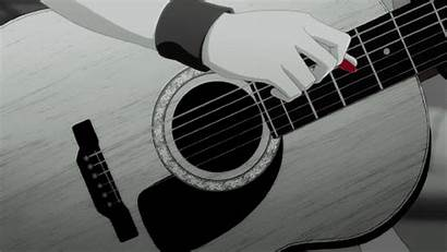 Guitar Play Angel Anime Musicians Beats Via