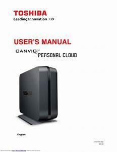 Toshiba Canvio Personal Cloud Instruction Manual