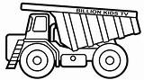 Dump Truck Construction Coloring Pages Printable Drawing Template Getdrawings Sketch Sheet Tipper Fresh Getcolorings sketch template