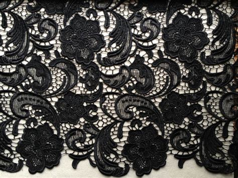 Elegant Venice Embroidered Lace Fabric In Black For Wedding Design Curtains Mona Vale For Short Windows Ideas Fly Conservatory Doors Black White Shower Curtain Fabric Darth Vader Window Pvc Pipe Rod Bay Wide Thermal