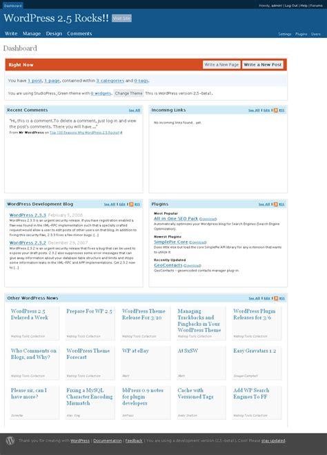 Wordpress Dashboard running  reviewing wordpress  beta 1123 x 1563 · png