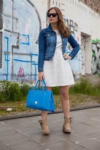 Kleid Mit Jeansjacke : 25 kleidungsst cke 50 looks outfit 8 mint berry spitzenkleid warehouse jeansjacke josie ~ Frokenaadalensverden.com Haus und Dekorationen