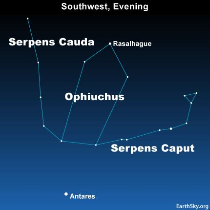 ophiuchus  constellation  zodiac tonight earthsky