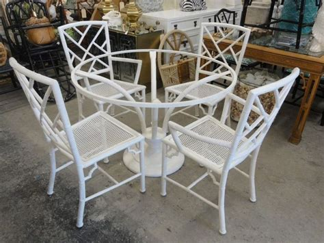 faux bamboo chippendale meadowcraft patio set palm beach