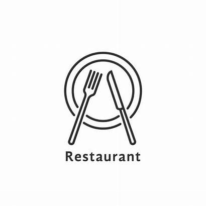 Restaurant Symbol Simple Line Vector Thin Dinner