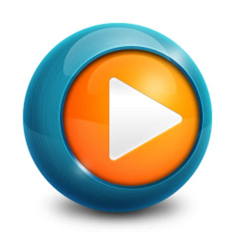 3d play button png wmp icon media player icons softicons