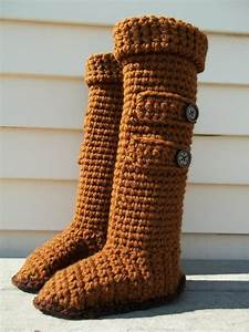 high knee crochet slipper boots patterns to keep your