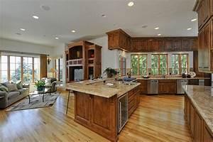 best kitchen and dining room open floor plan top design With open floor plan kitchen design
