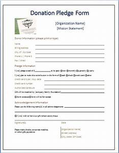 sample donation pledge form daily medical forms With fundraising form letter